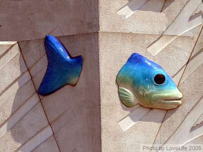 Wall sculpture at Coney Island Aquarium – 3  New York USA