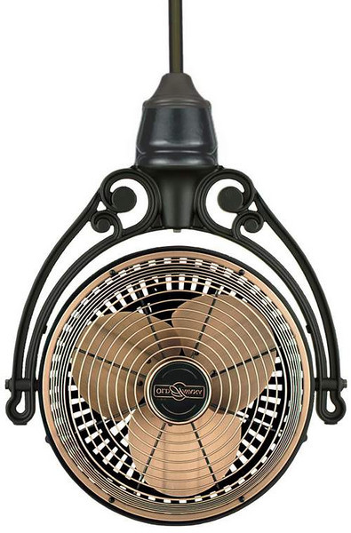 Rustic Fan hanging from ceiling