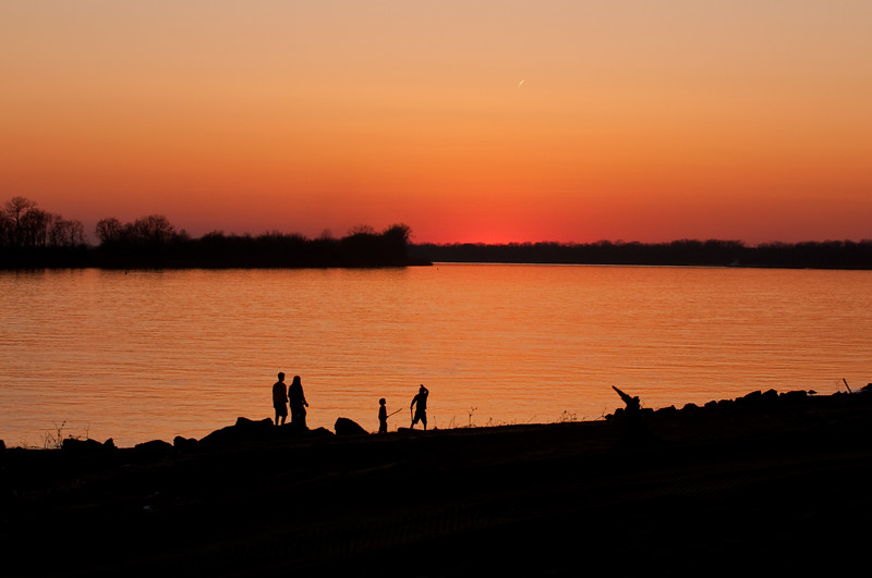 Ohio River Sunset - Newburgh, IN.