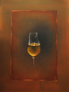 """Glass of Bear"" 18X24 Oil on Canvas Price: $ 850.00  Limited Edition Print: $  270.00 Lustre/Unframed Limited Edition Print / Gallery Block (Finished edge) $ 375.00"