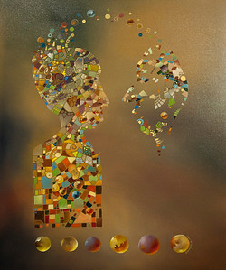 """Communication"" 2012 / 24X30 Oil on Canvas Price $1400.00"