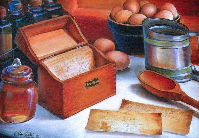 """""""In the Kitchen""""  Oil on Canvas 16 x 20"""