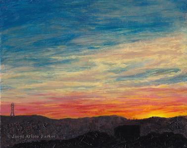 Golden Sunset from Potrero Hill