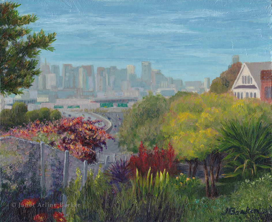 San Francisco Skyline from the Benches Garden