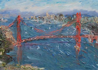 Golden Gate Bridge-sunny windy day