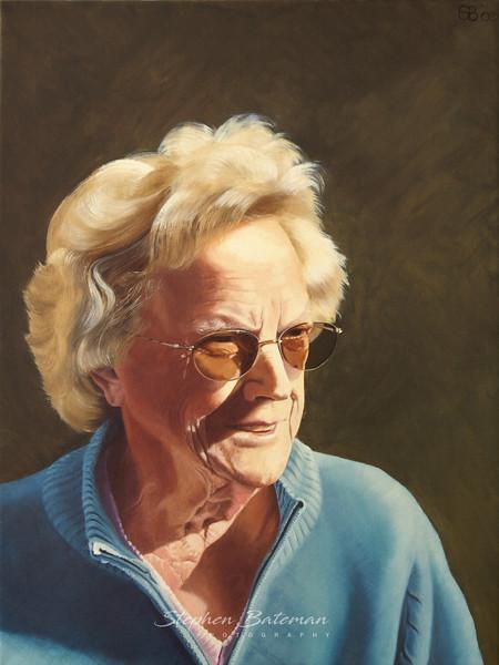 Mum, oil on canvas