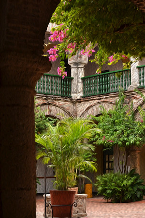 A patio at La Popa, in Cartagena, Colombia