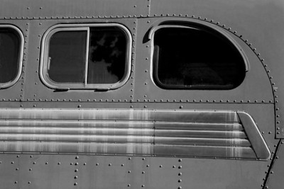 Old Bus in B&W
