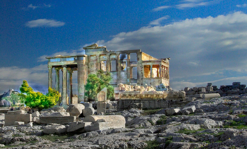 The Erechteum at the Parthenon