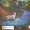 Adding In More Detail<br /> <br /> I've been working on the beautiful feathering of the English Setter's coat.  There's definition now to the water and added creatures and leaves scattered about.<br /> <br /> I've also decided on the name for the painting to be: Pointer's Paradise.  <br /> <br /> In the background a young Llewellin English Setter has been painted in (her name is Shelby) along with our Black Lab (Brandie).<br /> <br /> Just a day or two more and the painting will be complete.<br /> I'll do some test prints on canvas and paper and have some other products made before offering them for sale.