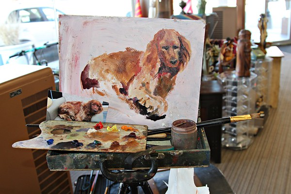 Pat Deeter painting of a dog.