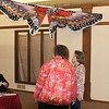 Melanie Rees, Betty Key and Marcia Pugh, under Butterfly kite.