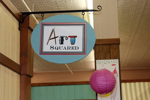 Art Squared sign. Another work of hand made art.