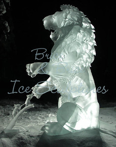 'A Little Help' World Ice Art Championships 2007 -Single block 7800lbs of ice 3 days. Steve and Heather Brice 2nd place