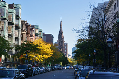 View down Newbury Street