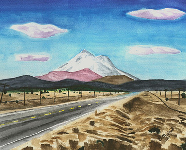 Mt. Shasta Painting