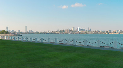 View of downtown Boston from the Kennedy Library (5 shots)