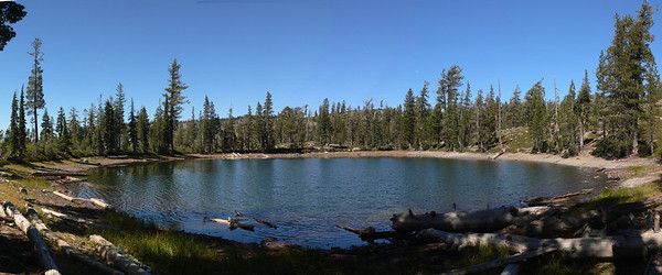 This is a view of Sifford Lake in Lassen NP (3 shots)