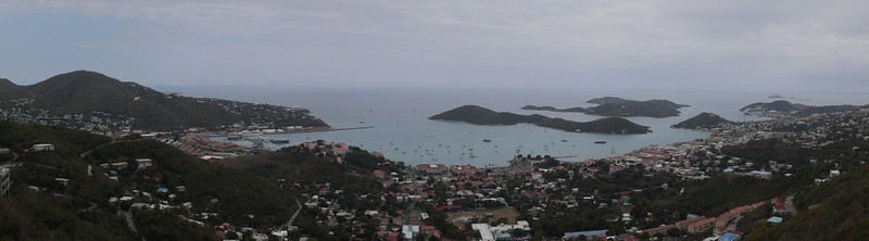 This is an overview of Charlotte Amelie on St. Thomas in the US Virgin Islands (12 Shots)