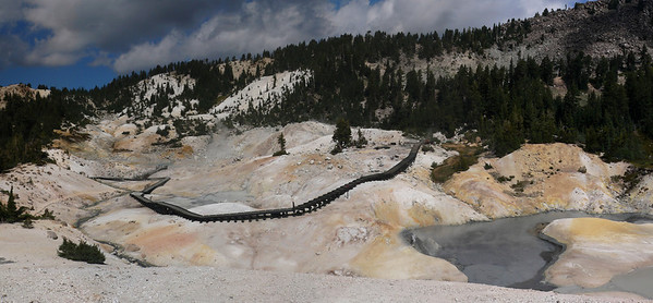 this is a view of Bumpass Hell (8 shots)