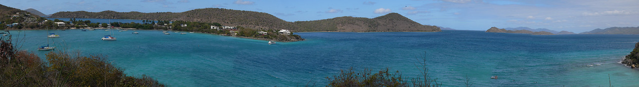 A view from below our room on a sunny day (near the shore) on St. Thomas (23 shots)