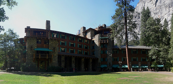This is the Ahwanhee hotel in Yosemite Valley (10 shots)
