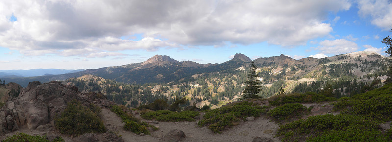 this is a view from a parking lot near the Bumpass Hell trailhead in Lassen NP (12 Shots)