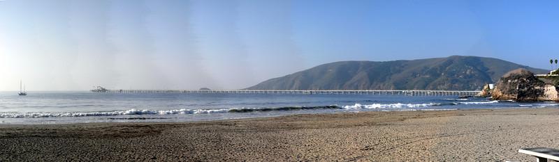 This is a view at Port San Luis of San Luis Bay near Avila Beach.