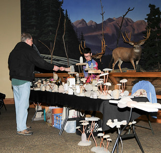 Photos by Carl Hess. Artists displayed outdoor inspired works at Cabela's during the Spring Outdoor Art Show.