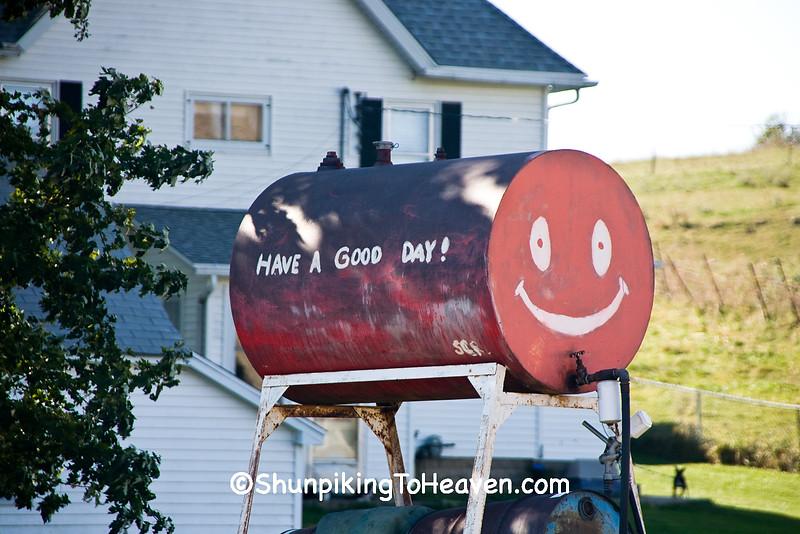 Smiley Face Gas Tank, Green County, Wisconsin
