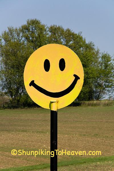 Roadside Smiley Face, Vernon County, Wisconsin