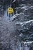 December Smiley Face, Sauk County, Wisconsin