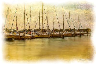 Digital Painting of Sailboats