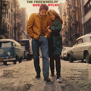 """The Freewheelin' Bob Dylan"" album cover . Credit Don Hunstein"