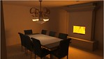 190 Pultio House Dining Room View 90 Inch Table