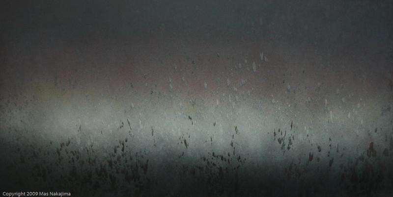 "Atmosphere: Winter Cloud, 2007 #2; 24""x48"", oil on panel"