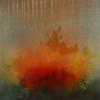 "Forest: Beginning, 2003; 14""x14"", oil on wood (Bubinga)"