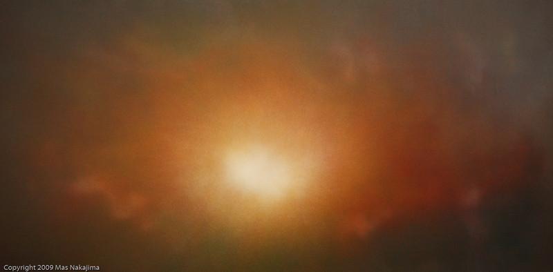 """Space: Sunrise, 2/24/2009; 24""""x48"""", oil on panel"""