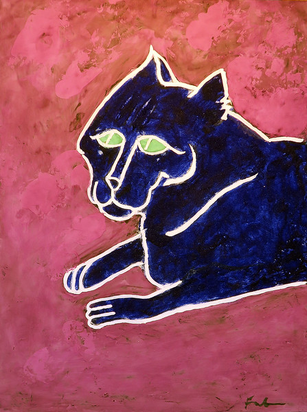 Untitled Cat (Ultramarine Pink and Royal Smalt)
