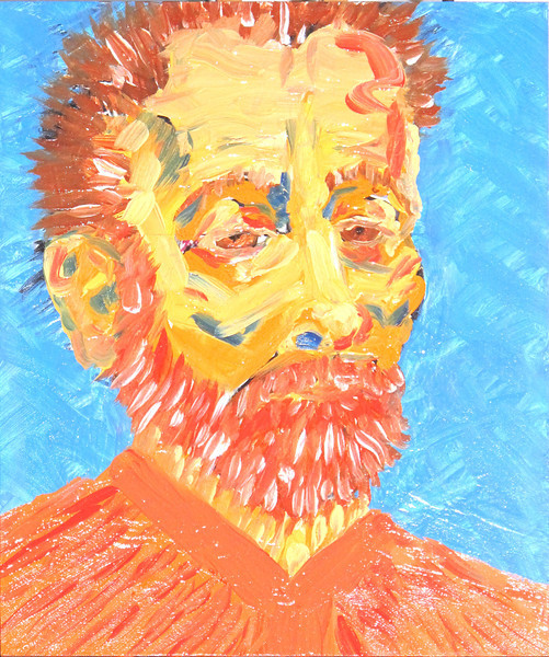 Self Portrait, Orange and Blue