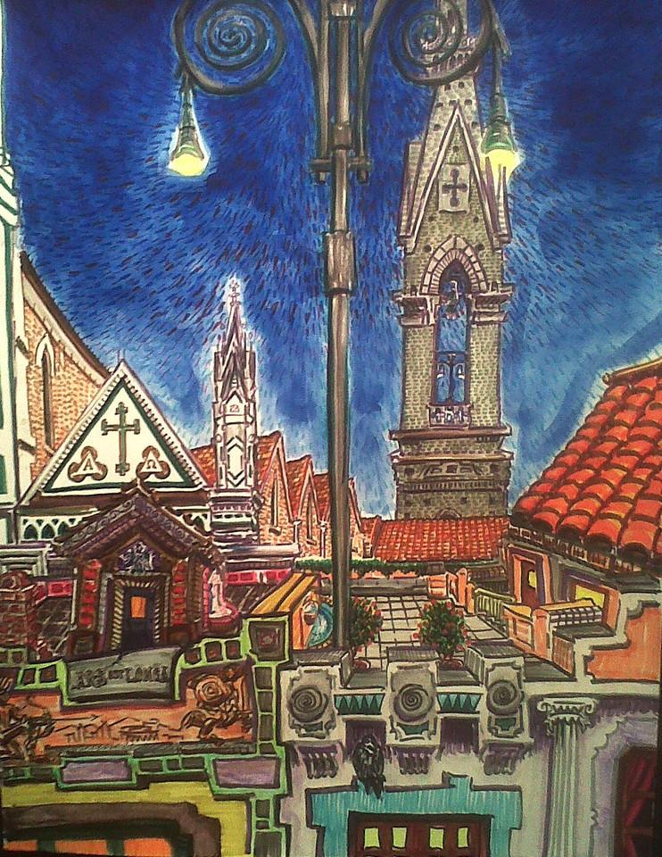 "Ars Es Longa Watercolor, mixed media 22"" x16"" 650."