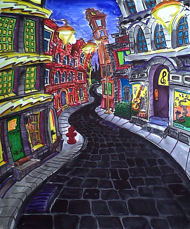 """And You Ask Me What The Road Is Like... Watercolor, mixed media 17"""" x 14"""" 600."""