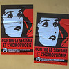 Paris, France., French Wall Art, Posters protesting Against Homophobia and Sexism, Anarchist Group