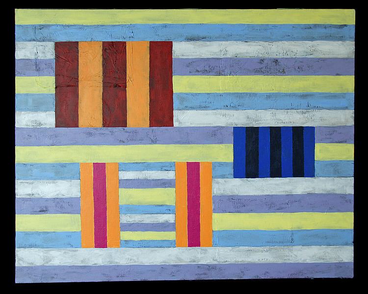 "Merci, Marthe e Pierre, <br /> 24"" x 30""<br /> Acrylic on canvas"