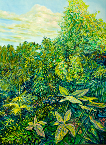 """©John Rachell  Title: The Garden, November 29, 2006 Image Size: 30"""" w by 40"""" d Dated: 2006 Medium and Support: Oil Paint on Canvas Signed: LL Signature"""