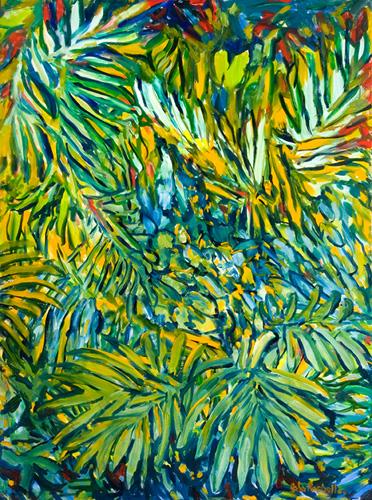 "©John Rachell  Title: The Garden, June 7, 2006 Image Size: 36""w X 48""d Date: 2006 Medium & Support: Oil paint on canvas Signed: LR Signature"