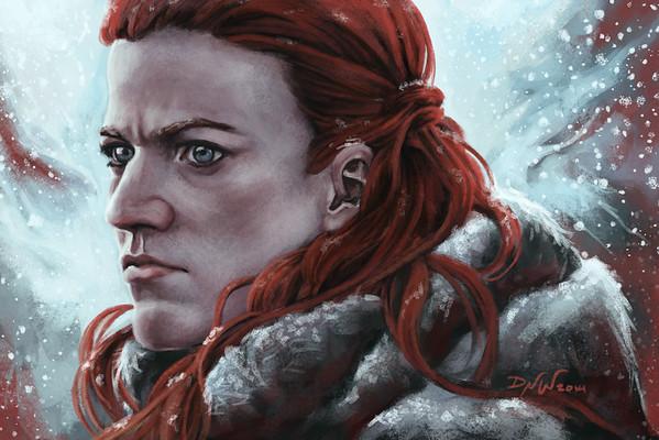 Digital portrait painting. (Game of Thrones fan art)