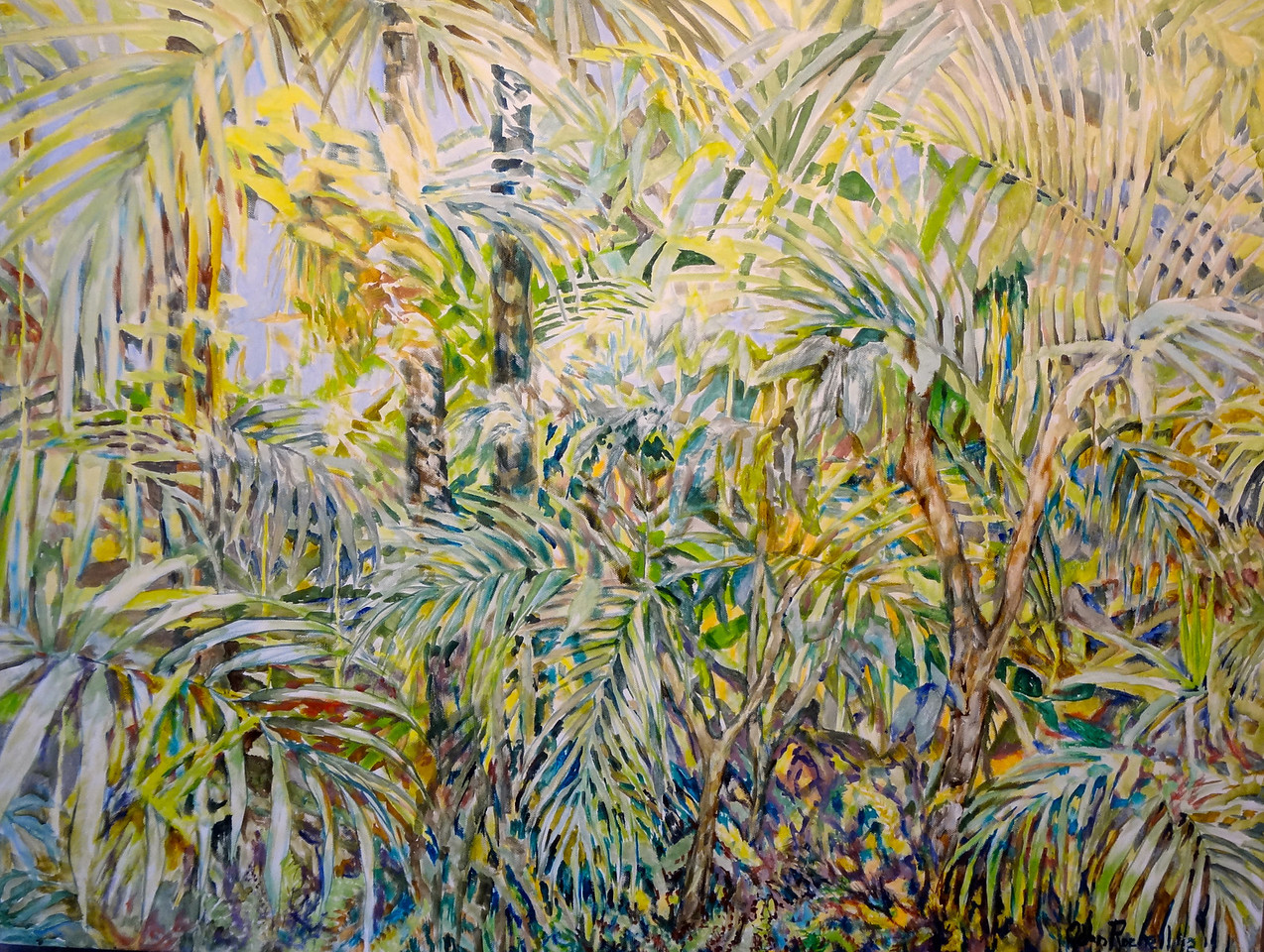 """© 2012 John Rachell Title: Garden, March 17, 2012 Image Size: 40"""" W by 30"""" D Dated: 2012 Medium and Support: Oil paint on canvas Signed: LR Signature"""