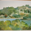 Lafayette Reservoir - Photograph taken by artist (me!),painting completed, March 2010.
