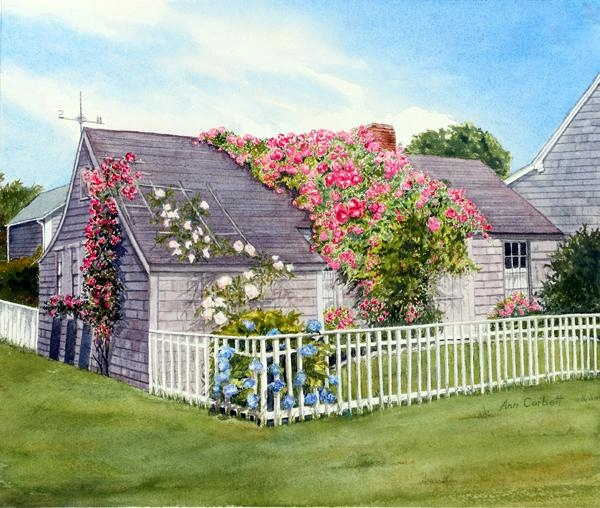 Nantucket Cottage - This is the oldest house in the village of 'Sconset on Nantucket.